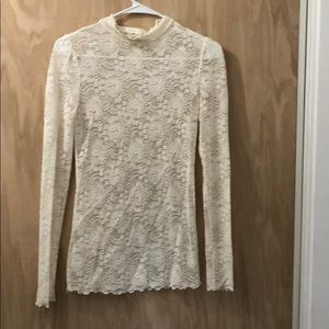 Lace blouse.